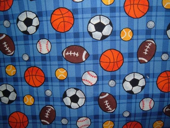 Sports print curtain set - free shipping