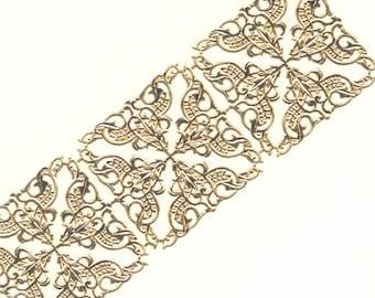 Vintage / Dresden Trim Corners / Gold Foil / One Sheet / Gold Foil / Valentine's Day
