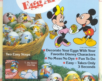 Instant Egg Art (R) / Twelve Egg Wrappers / Favorite Disney Characters / Mickey & Minnie / Egg Sleeves / Shrink Wraps