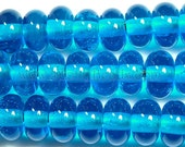 24 Pulsar Blue Spacer Beads - ScottyBeads Lampwork - FREE US SHIPPING