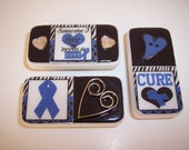 Colon Cancer Awareness Domino Magnets - Set of 3