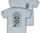 skull on heather seafoam medium