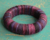 Wool Wrapped Bracelet in Purples