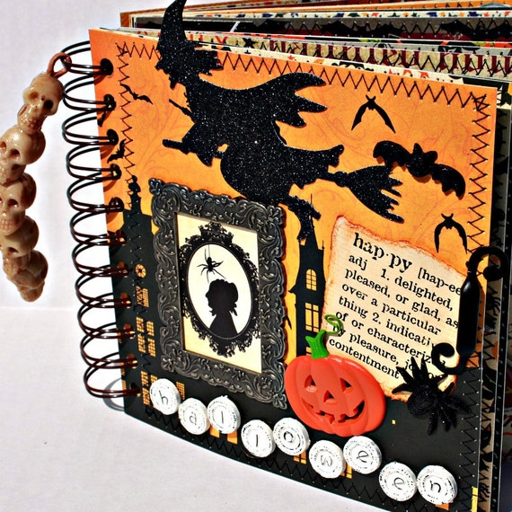 CLEARANCE--------WITCHING HOUR  Halloween  A-Z Scrapbook Album
