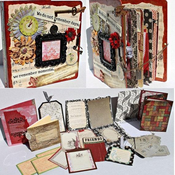 REMEMBER MOMENTS Chipboard Binder Scrapbook Album By