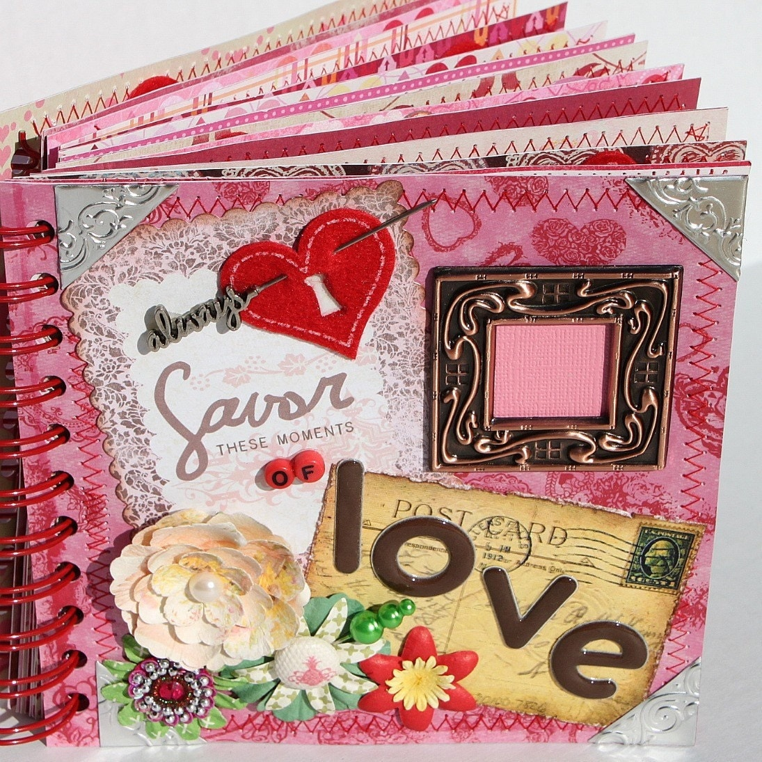 Book Cover Ideas Boyfriend ~ Love a z scrapbook album by papersilly on etsy