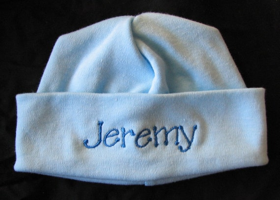 Personalized Embroidered Monogrammed Baby Hat Cap