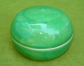 Trinket jar in Candy Apple Green