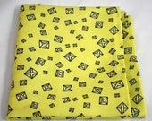 Pee Towel - Calcium Oxalate Crystals on Yellow