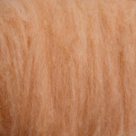 2 oz Pale Peach Texel Wool Batts