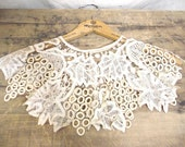 Free shipping Vintage Handmade Lace Collar and Cuffs from 1898 over 100 Yr old documented prize winner
