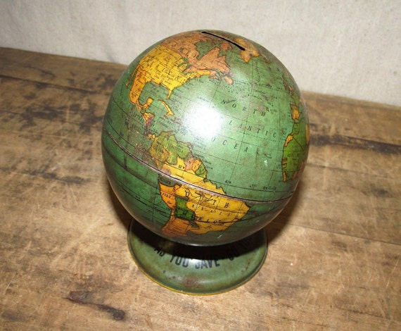Fabulous old Globe Bank nice patina with stopper