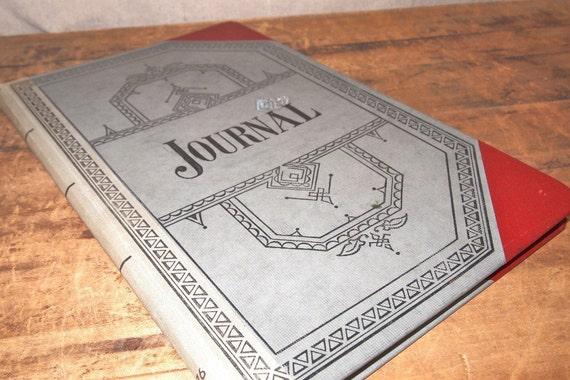 Vintage office ledger journal blank inside, great cover graphics