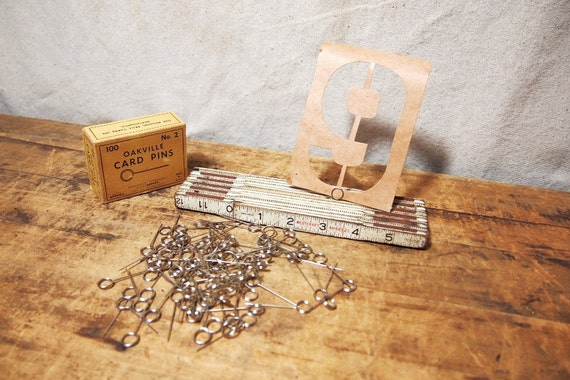 Vintage lot of card pins for signs and cards place card holders etc  lot of 5