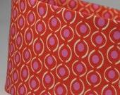 Women's Hot Pink Orange MOD Dot Wide Headbands