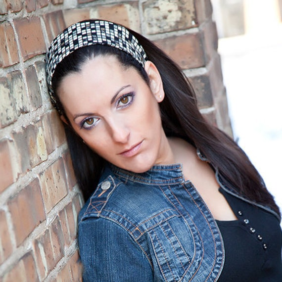 Women's Brown Black Grey Wide Fabric Headband