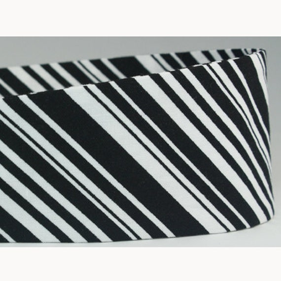 Womens Headbands, Black & White Stripes