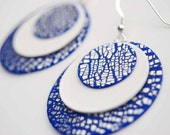 Silver Cobalt MOD Earrings