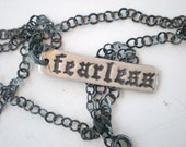 Old English Fearless Necklace