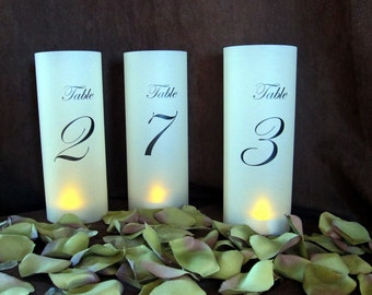 Illuminated Wraps for Table Number Lanterns- just add candles-qty 10