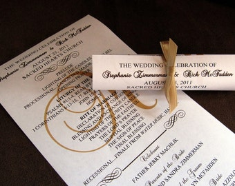 Mini Scroll Wedding Programs DEPOSIT- Standard Production Timing