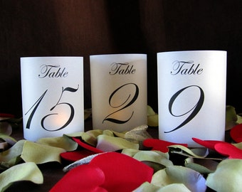 Petite Illuminated Table Numbers Wrap Lanterns-just add candles-set of 15