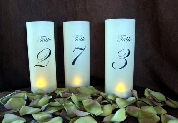 Illuminated Candle Lanterns for Table Numbers-qty 20