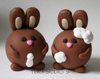 Custom Bunny Cake Topper (brown)