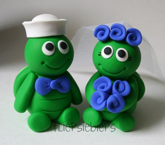 turtle wedding cake toppers custom turtle wedding cake topper 21320