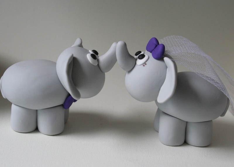Custom Elephant Wedding Cake Topper