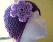 Plumalicious Purple Womens Crochet Cap