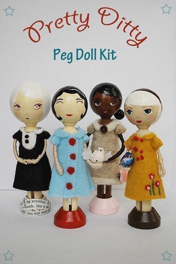 Pretty Ditty Peg Doll Kit - Clothespin Doll Kit