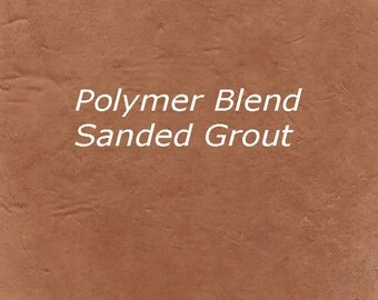 Warm EARTH BROWN 2 Pounds Mosaic Tile Grout Sanded Polymer FortifiedW for Home Projects - Just Add Water