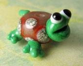 Cornelius - Handmade Lampwork Turtle Bead - RESERVED FOR PEBBLES -