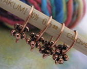 Pure Copper Darwin Fish - Knit or Crochet Stitch Markers- Set of 4 - Fits up to Size 10 Needle