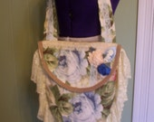 Large Bo-Ho Bag With 5 Inch Vintage Lace