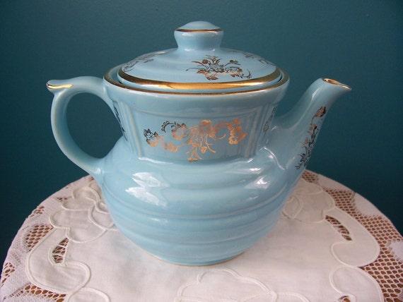 Vintage Robins Egg Blue Drip-O-Later Coffee - Tea Pot Circa 1940's To 1950's