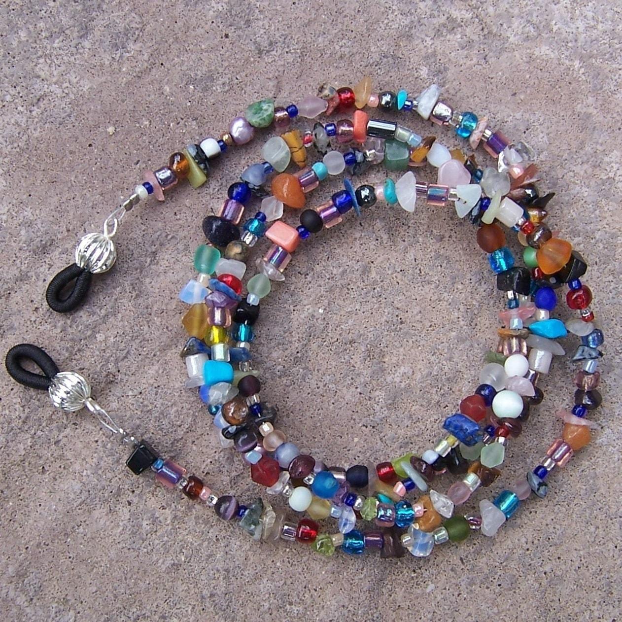 eyeglass chain beaded eyeglasses leash glasses holder with