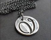 Fine Silver Elegant Initial Necklace - Rollo Sterling Silver Chain MADE TO ORDER a b c d e f g h i j k l m n o p q r s t u v w x y z