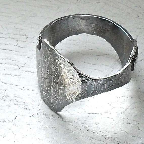 READY TO SHIP Sterling Silver Ring - Freeform