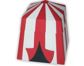 Carnival Circus Tent Single Favor Gift Box (custom colors available)