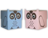 5 Large Owl Favor Boxes (custom colors available)