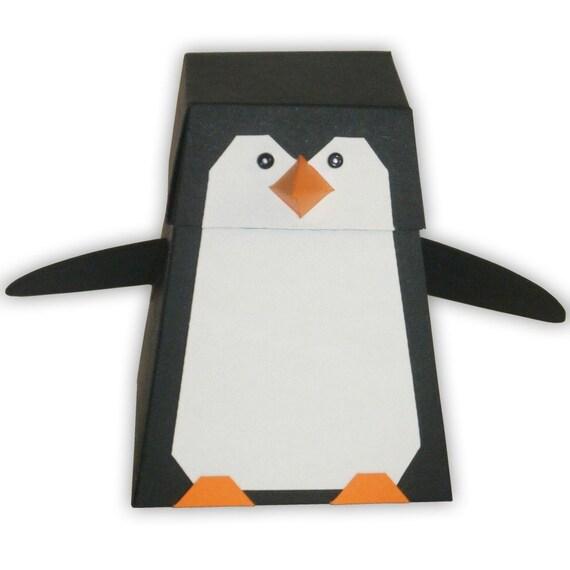 Items Similar To Penguin Digital Pdf Favor Gift Box