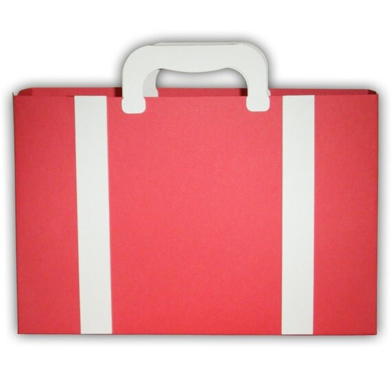 Small Suitcase Luggage Favor Printable Color Template Digital PDF (custom colors available)