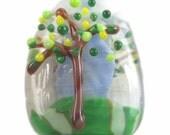 Spring is Springing - Artisan Lampwork Focal Bead