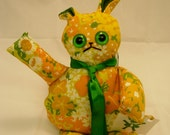 Hand-made stuffed toy rabbit (for kids or adults)