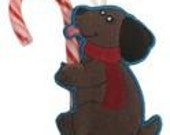Hungry Puppy Candy Cane or Pencil Holder Ornament