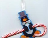 Penguin Candy Cane or Pencil Holder Ornament
