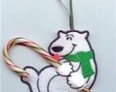 Polar Bear Candy Cane or Pencil Holder Ornament