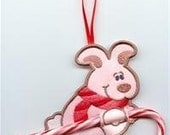 Bunny Candy Cane or Pencil Holder Ornament
